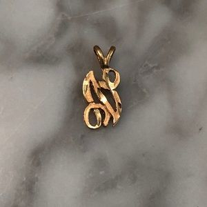 Jewelry - 14K gold N letter pendant initial necklace